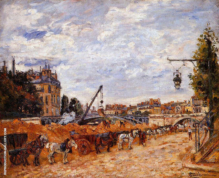 Pont Marie Quai Sully 1878 By Armand Guillaumin Replica Paintings on Canvas - Reproduction Gallery