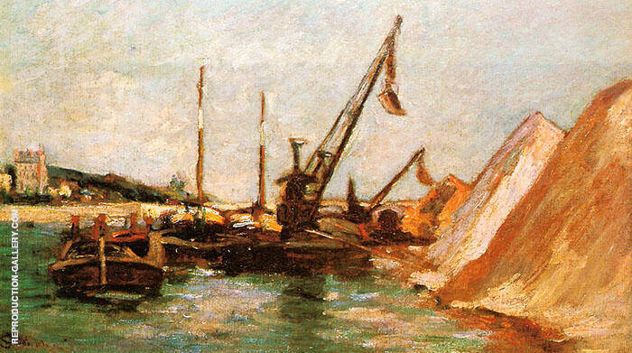Quai de Bercy c1880 By Armand Guillaumin Replica Paintings on Canvas - Reproduction Gallery