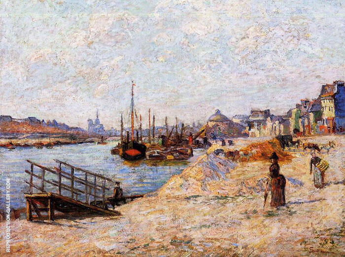 Quai de Bercy c1881 By Armand Guillaumin Replica Paintings on Canvas - Reproduction Gallery