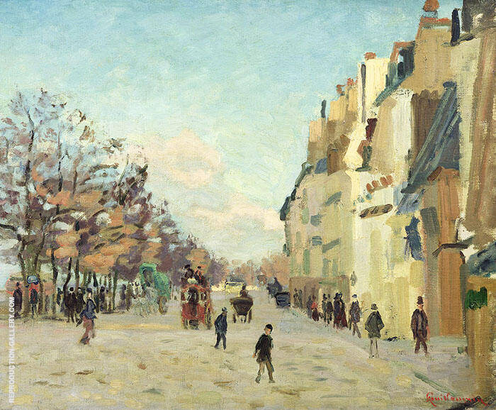Quai de La Gare Effect de Neige 1873 By Armand Guillaumin Replica Paintings on Canvas - Reproduction Gallery