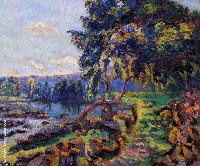 Rapids at Genetin Painting By Armand Guillaumin - Reproduction Gallery