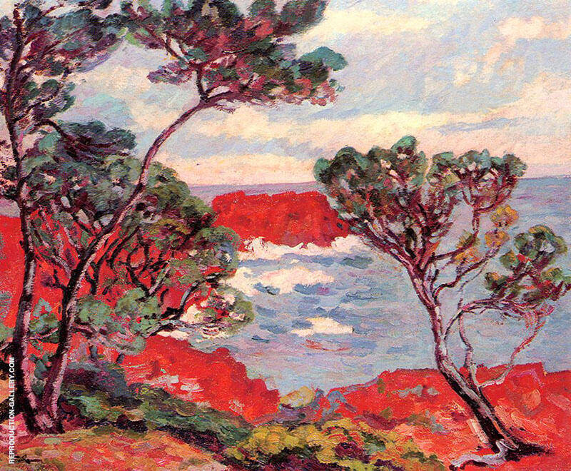 Red Rocks 1894 By Armand Guillaumin Replica Paintings on Canvas - Reproduction Gallery
