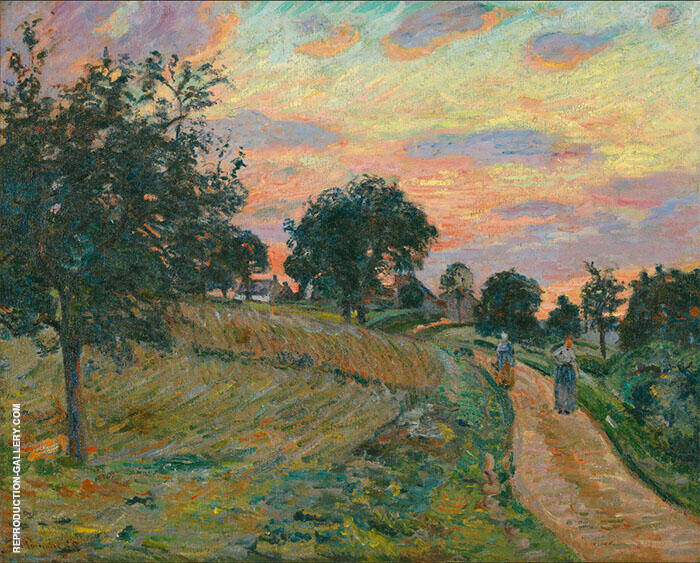 Road at Damiette 1885 Painting By Armand Guillaumin - Reproduction Gallery