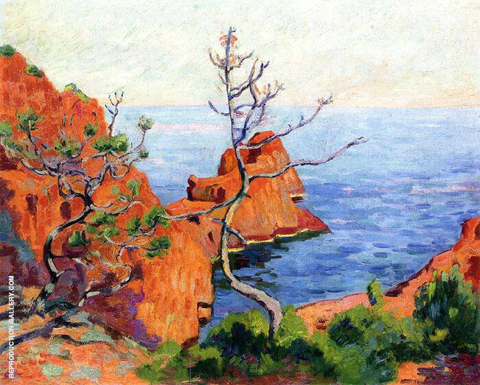 Rocks at Trayas 1915 Painting By Armand Guillaumin - Reproduction Gallery