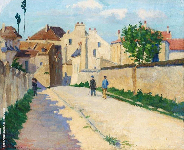 Rue de Clamart at Vanves 1873 Painting By Armand Guillaumin