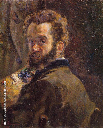 Self Portrait with Easel 1878 By Armand Guillaumin - Oil Paintings & Art Reproductions - Reproduction Gallery