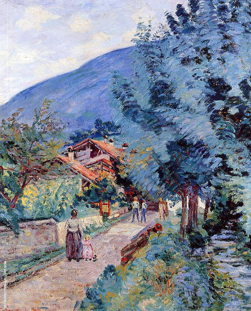 Shaded Road Pontchara By Armand Guillaumin Replica Paintings on Canvas - Reproduction Gallery