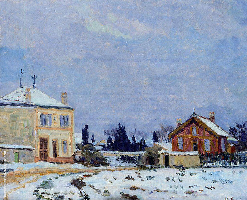 Snow 1876 By Armand Guillaumin Replica Paintings on Canvas - Reproduction Gallery
