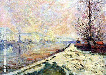 Snowmelt in Rouen 1901 By Armand Guillaumin - Oil Paintings & Art Reproductions - Reproduction Gallery