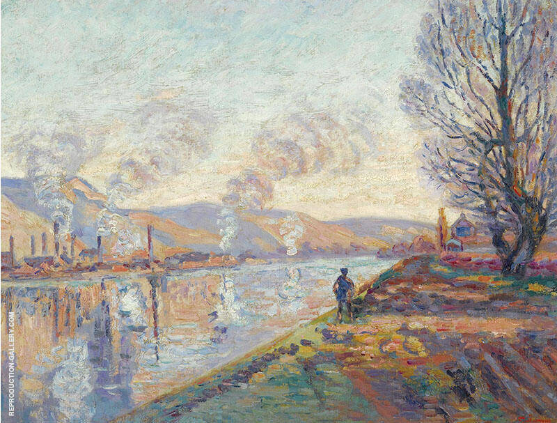 La Seine en Amont de Rouen Painting By Armand Guillaumin