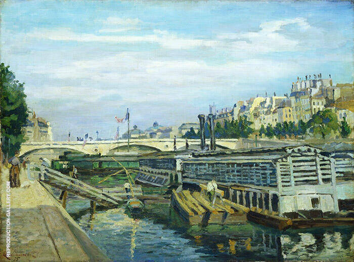 The Bridge of Louis Philippe 1875 By Armand Guillaumin Replica Paintings on Canvas - Reproduction Gallery