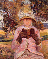 The Future Madame Guillaumin Reading 1882 By Armand Guillaumin