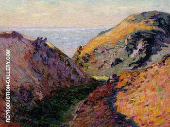 The Lude Valley at Carolles By Armand Guillaumin - Oil Paintings & Art Reproductions - Reproduction Gallery