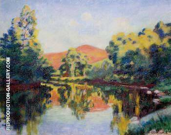 The Pink Mountain By Armand Guillaumin - Oil Paintings & Art Reproductions - Reproduction Gallery