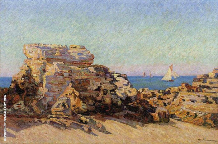 The Platin Rock at Saint Palais By Armand Guillaumin Replica Paintings on Canvas - Reproduction Gallery
