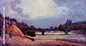 The Pont des Arts 1878 By Armand Guillaumin - Oil Paintings & Art Reproductions - Reproduction Gallery