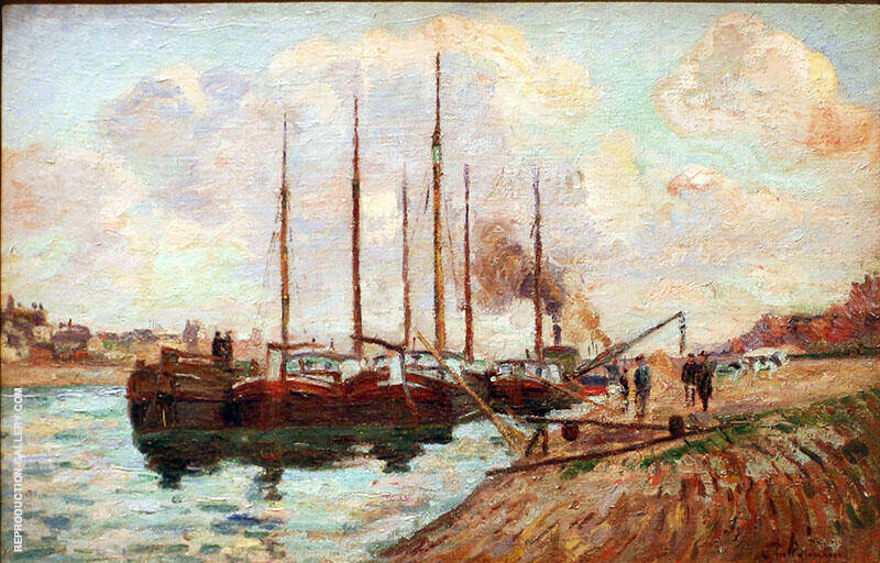 The Quai d'Austerlitz 1877 By Armand Guillaumin Replica Paintings on Canvas - Reproduction Gallery