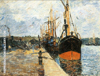 The Quay at Rouen 1882 By Armand Guillaumin Replica Paintings on Canvas - Reproduction Gallery