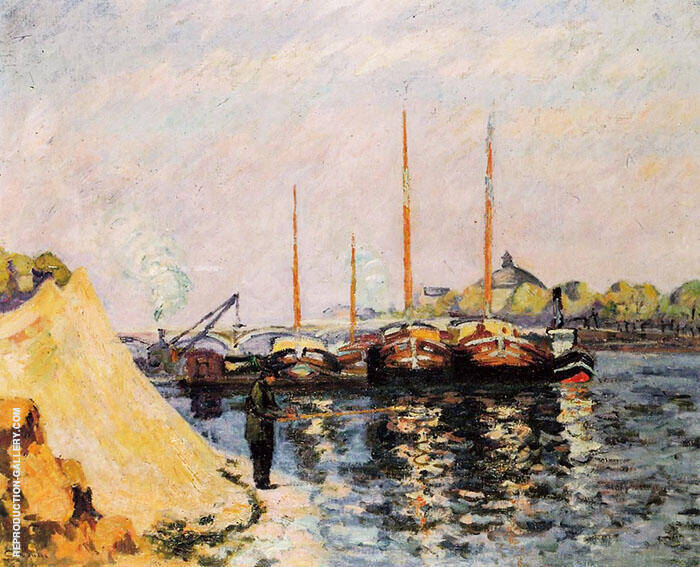 The Quay d'Austerlitz Morning c1886 By Armand Guillaumin Replica Paintings on Canvas - Reproduction Gallery
