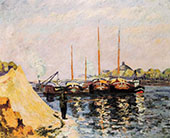 The Quay d'Austerlitz Morning c1886 By Armand Guillaumin