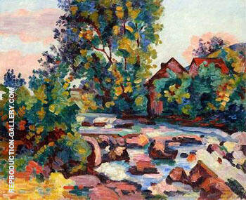 The Rock at Bouchardon By Armand Guillaumin Replica Paintings on Canvas - Reproduction Gallery