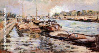 The Seine 1867 By Armand Guillaumin Replica Paintings on Canvas - Reproduction Gallery