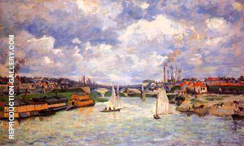 The Seine River at Charenton 1878 By Armand Guillaumin - Oil Paintings & Art Reproductions - Reproduction Gallery