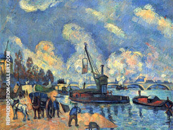 The Seine at Bercy Painting By Armand Guillaumin - Reproduction Gallery