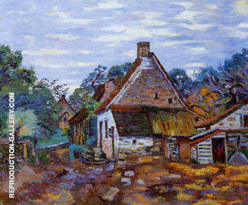 Reproduction of Village by Armand Guillaumin | Oil Painting Replica On CanvasReproduction Gallery