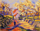 Village Street By Armand Guillaumin