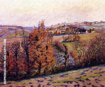 Reproduction of Ville Crozant by Armand Guillaumin | Oil Painting Replica On CanvasReproduction Gallery