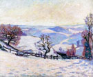 White Frost at Puy Barriou By Armand Guillaumin