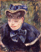 Woman with Blue Cape and Scarf 1890 By Armand Guillaumin
