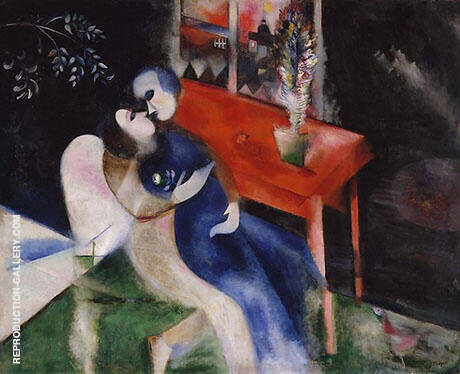 Lovers c1913 Painting By Marc Chagall - Reproduction Gallery