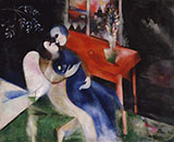 Lovers c1913 By Marc Chagall