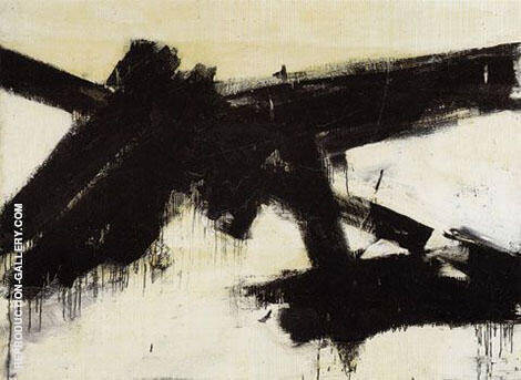 Untitled 1954 By Franz Kline