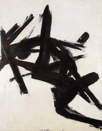 Black and White Number 1 1952 By Franz Kline Replica Paintings on Canvas - Reproduction Gallery
