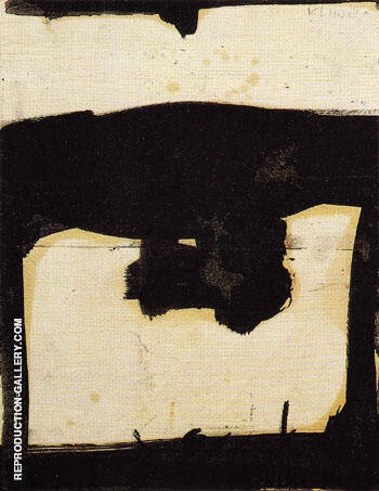 Untitled c 1952 By Franz Kline Replica Paintings on Canvas - Reproduction Gallery