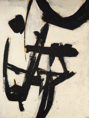 Reproduction of Abstraction C 1950 51 by Franz Kline | Oil Painting Replica On CanvasReproduction Gallery