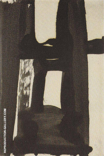Abstraction 1955 By Franz Kline - Oil Paintings & Art Reproductions - Reproduction Gallery