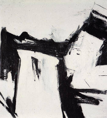 Reproduction of Pittston 1958 by Franz Kline | Oil Painting Replica On CanvasReproduction Gallery