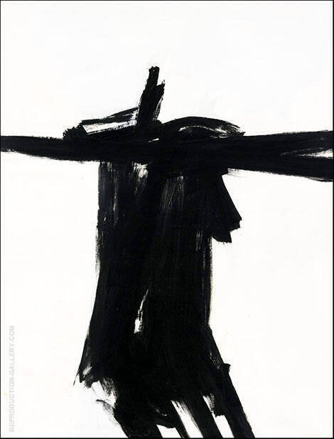 Reproduction of Flanders 1961 by Franz Kline | Oil Painting Replica On CanvasReproduction Gallery