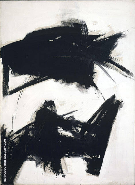Black Sienna 1960 Painting By Franz Kline - Reproduction Gallery