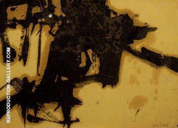Untitled 1957 1 By Franz Kline Replica Paintings on Canvas - Reproduction Gallery