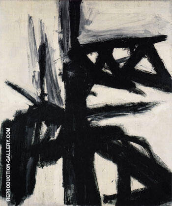 Reproduction of Garcia 1957 by Franz Kline | Oil Painting Replica On CanvasReproduction Gallery