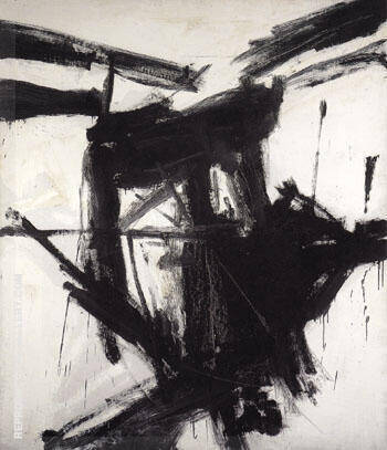 August Day 1957 Painting By Franz Kline - Reproduction Gallery