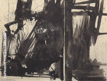 Study for Cupola final state 1960 By Franz Kline - Oil Paintings & Art Reproductions - Reproduction Gallery