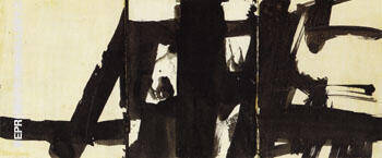Study for Shenandoah Wall 1960 By Franz Kline