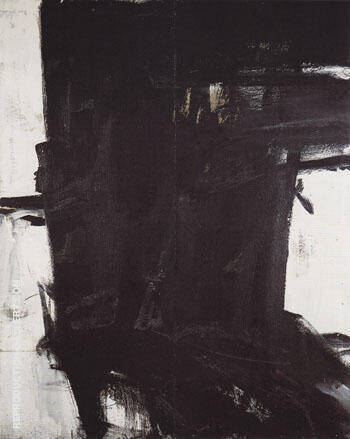 Mahoning II c 1961 Painting By Franz Kline - Reproduction Gallery