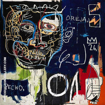 Pecho Oreja 1983, By Jean-Michel-Basquiat Replica Paintings on Canvas - Reproduction Gallery
